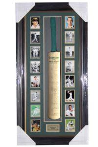 Australian Cricket Captains 1877-2002 Signed Bat