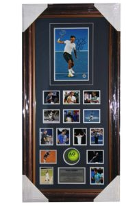 Roger Federer Signed Photo with Tennis Ball