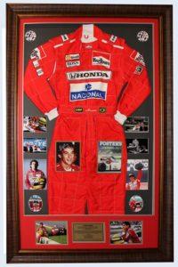 Ayrton Senna Replica Racing Suit with Signed Photo
